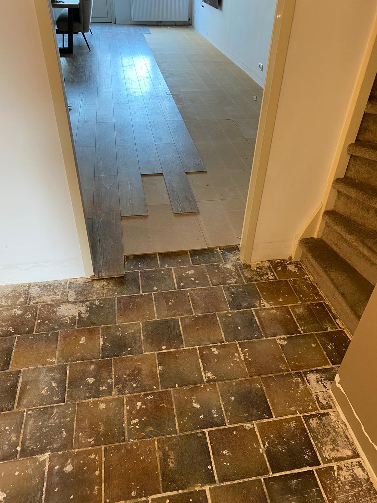 Project laminaat vloer Bacovloeren afbreken en verwijderen oude vloeren