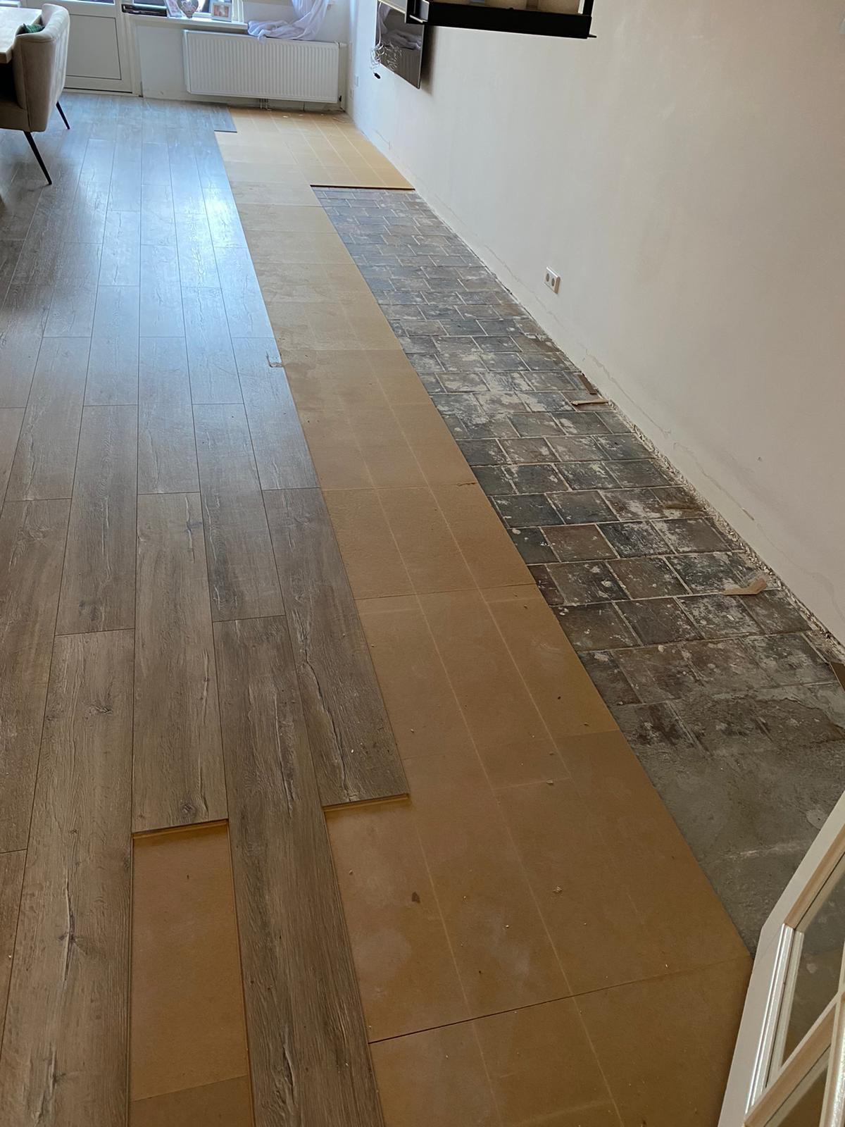 Project laminaat vloer Bacovloeren over oude vloer