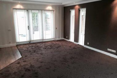 Bacovloeren, tapijt in combi met laminaat en zonwering