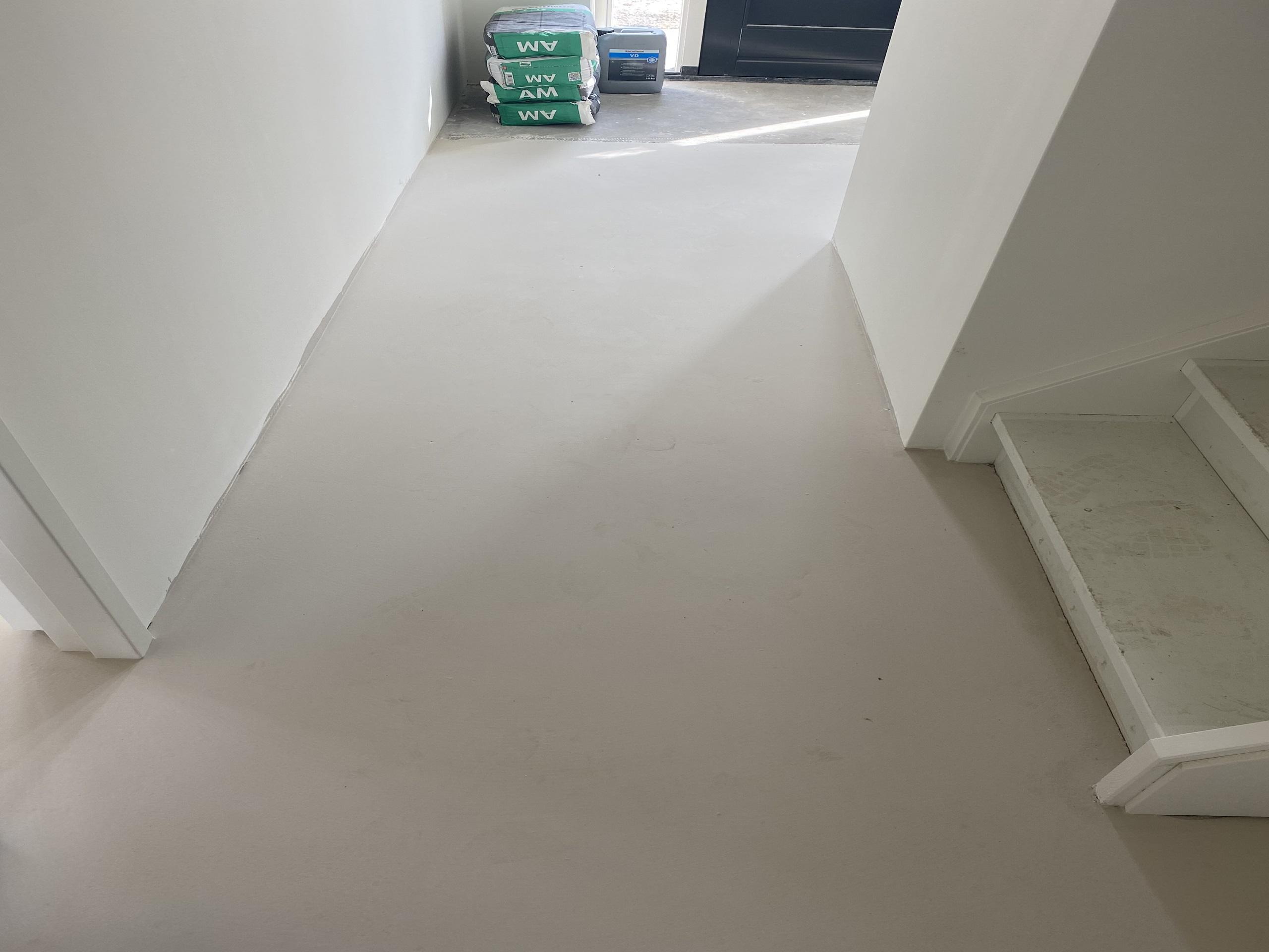 Visgraat vloer leggen op nieuwe ondervloer 2