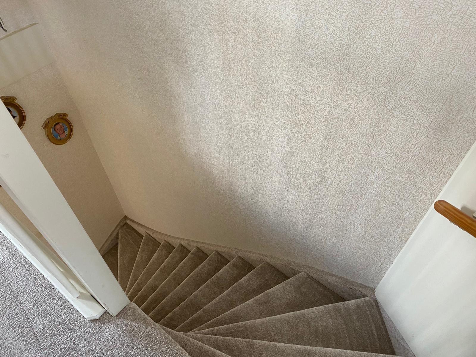 Bacovloeren tapijt leggen trap naar beneden